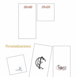 Servilletas Airlaid 30×40 y 20×20 Blancas