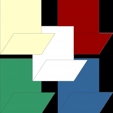 mini-servis blanca y colores