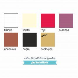 Servilletas 20×20 – 2 capas Blanca y Colores